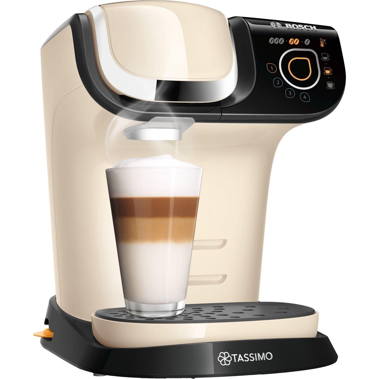 Details About Tassimo By Bosch Tas6507gb My Way 2 Pod Coffee Machine 1500 Watt Cream