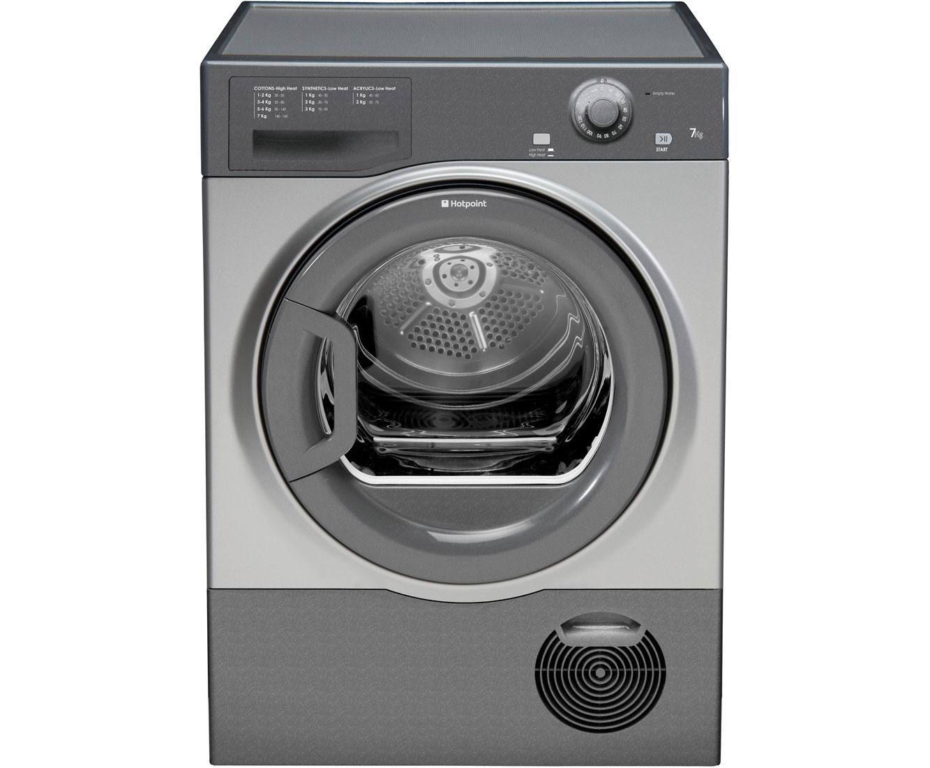 Hotpoint Aquarius TCFM80CGG Condenser Tumble Dryer - Graphite