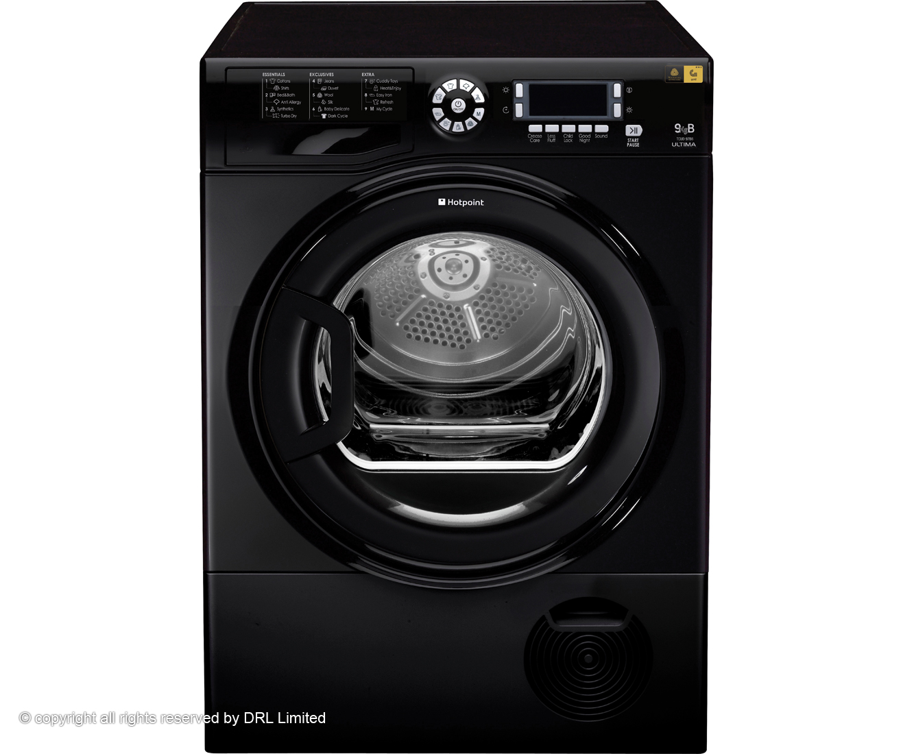 Hotpoint Ultima TCUD97B6K Condenser Tumble Dryer - Black