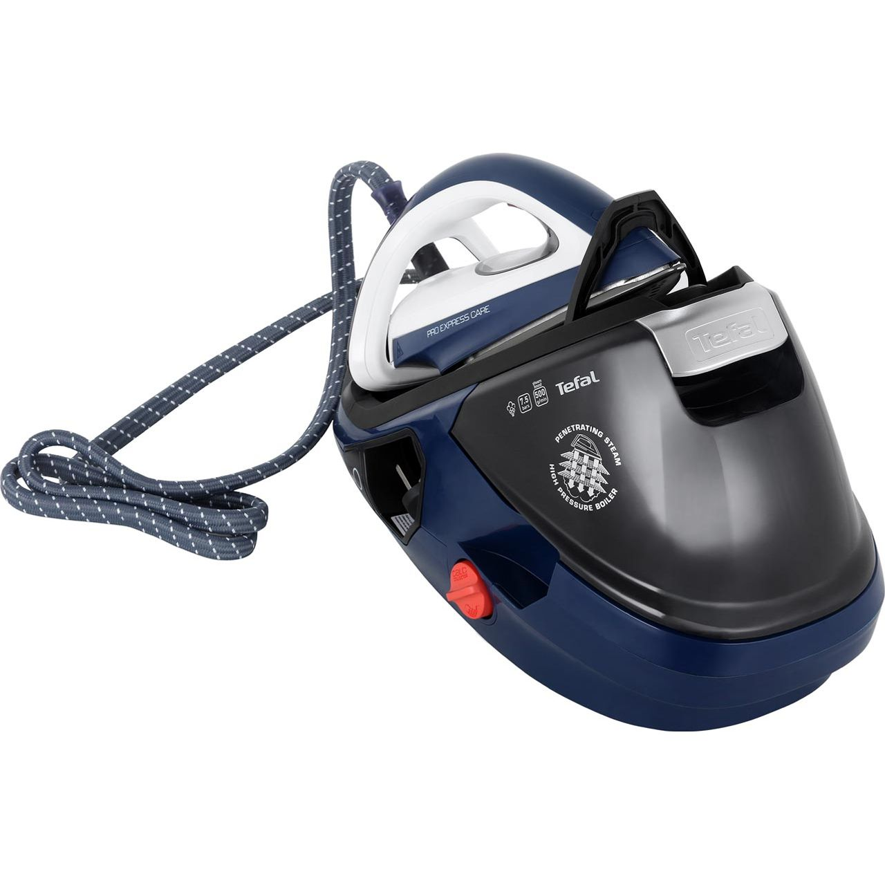 Tefal Pro Express Care Anti Scale Pressurised Steam Generator Iron - Blue / White
