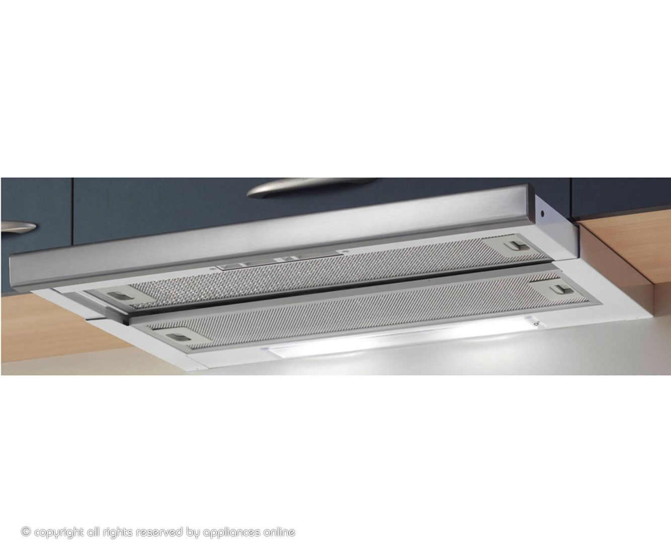 Baumatic TEL06SS Integrated Cooker Hood in Stainless Steel
