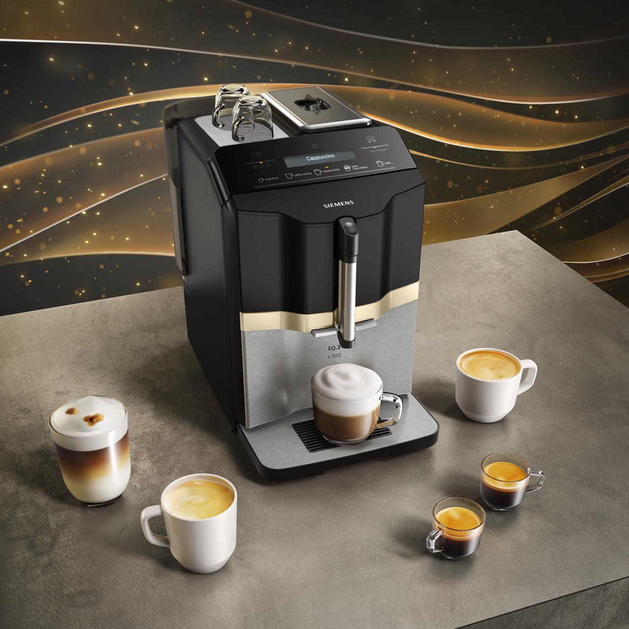 Siemens Eq3 Ti305206rw Bean To Cup Coffee Machine Black Stainless Steel
