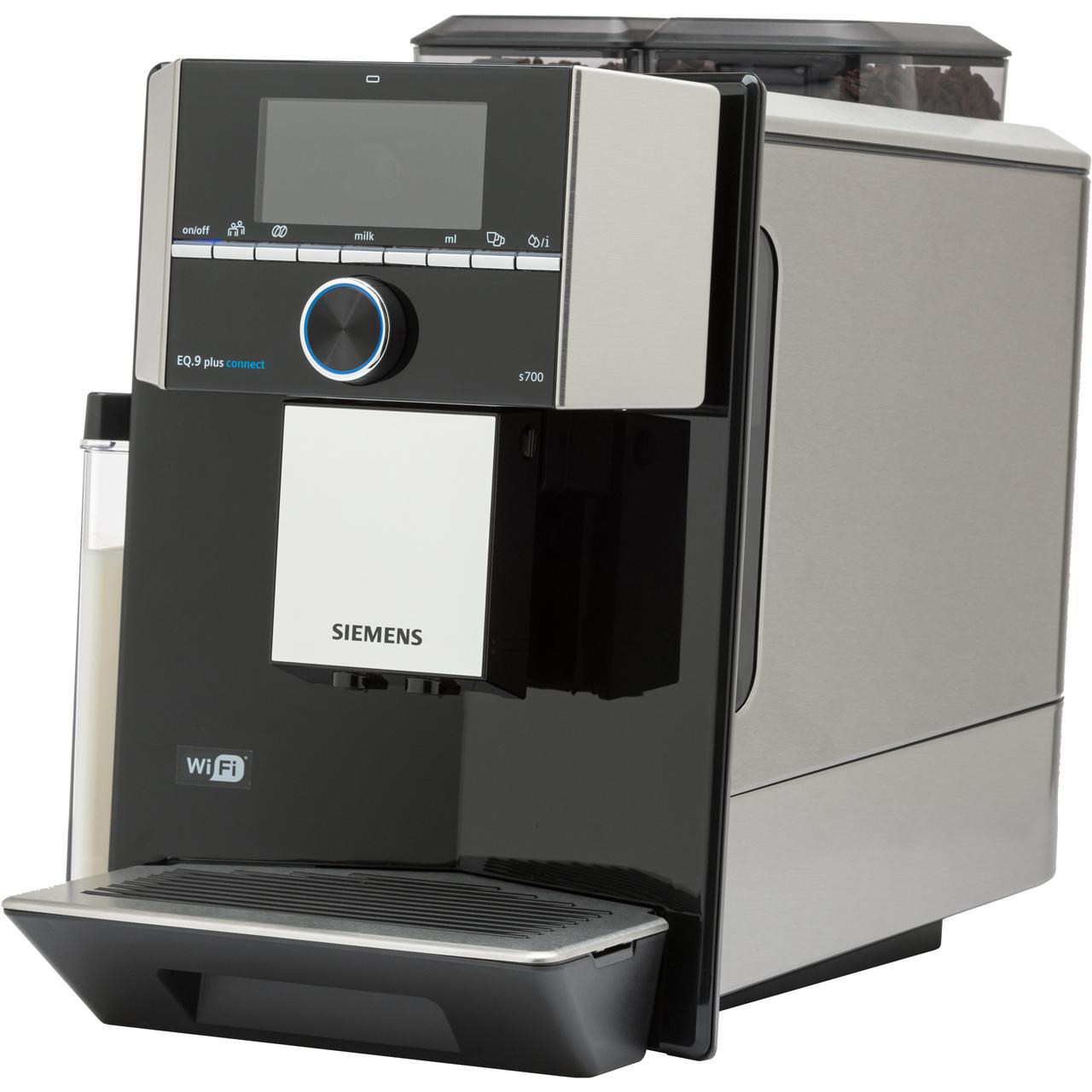 Siemens Eq9 Ti9573x9rw Bean To Cup Coffee Machine Black Stainless Steel