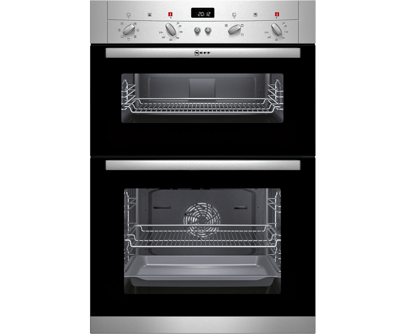 Neff Classic Collection 2 U12S52N3GB Built In Double Oven - Stainless Steel