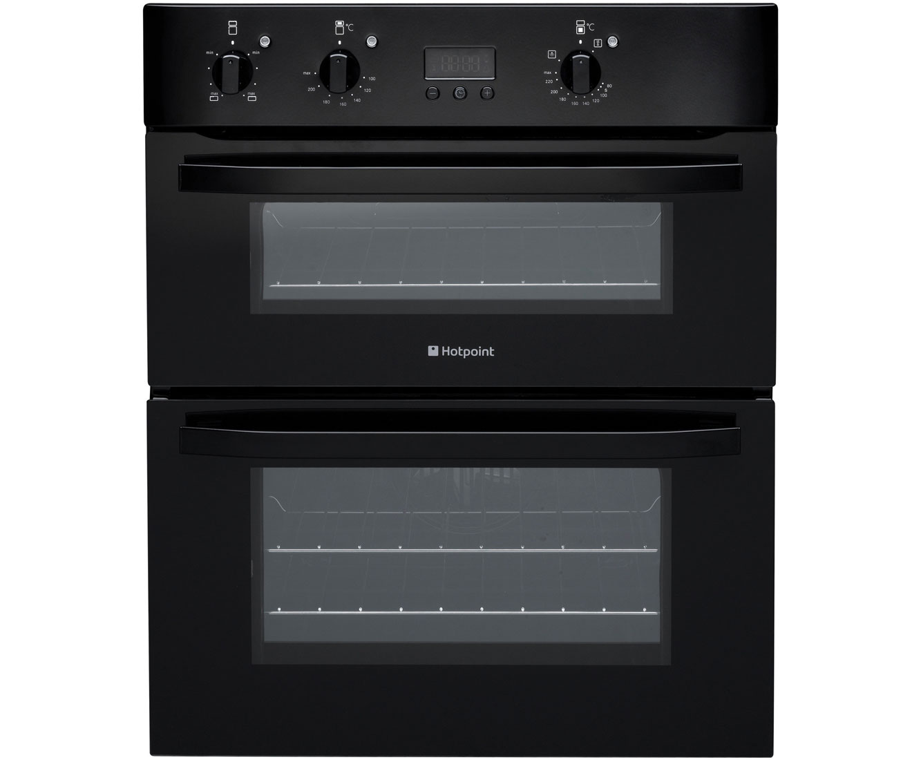 Hotpoint Newstyle UH53KS Built Under Double Oven in Black