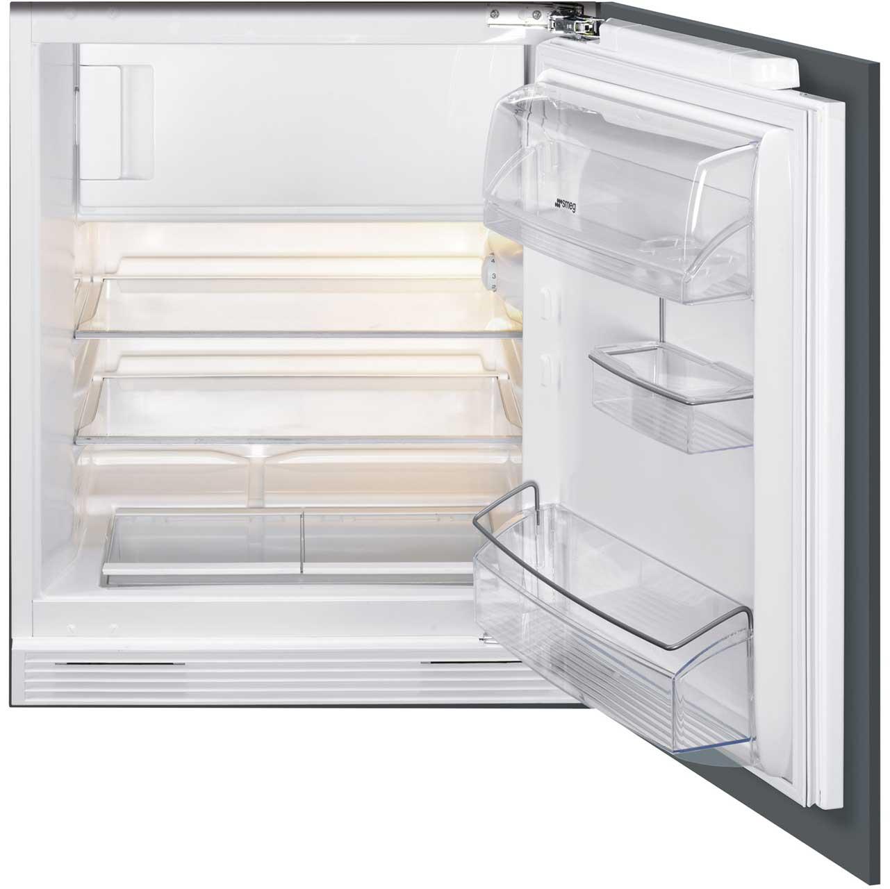 Counter Fridge Smeg Ukud7122csp Integrated Under Counter Fridge With Ice Box