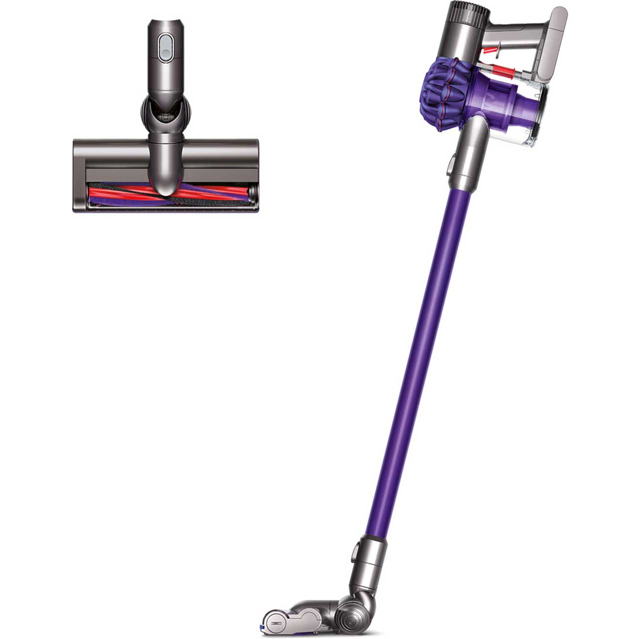 Dyson V6 Animal V6A Cordless Vacuum Cleaner with Pet Hair Removal and up to 20 Minutes Run Time