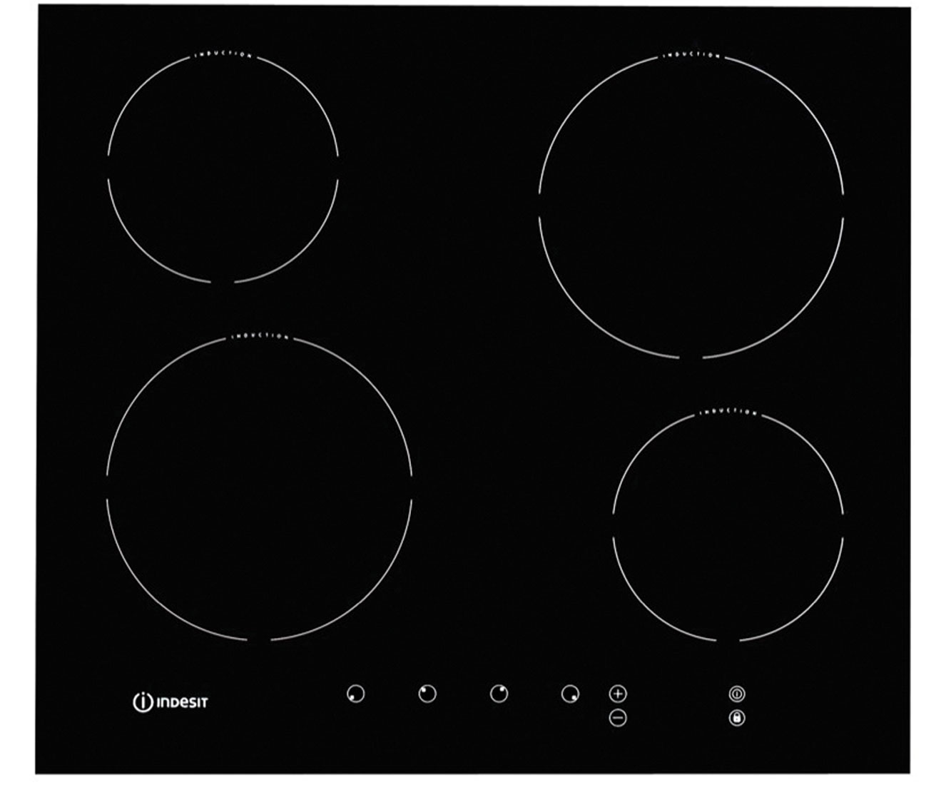 Indesit VIA640C 59cm Induction Hob - Black