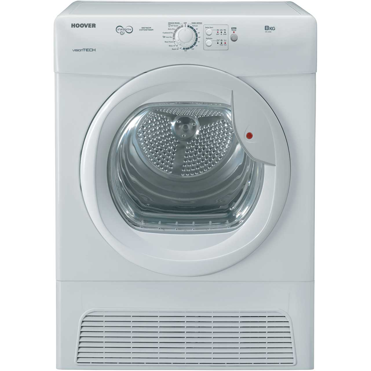 Hoover VTC581B Free Standing Condenser Tumble Dryer in White
