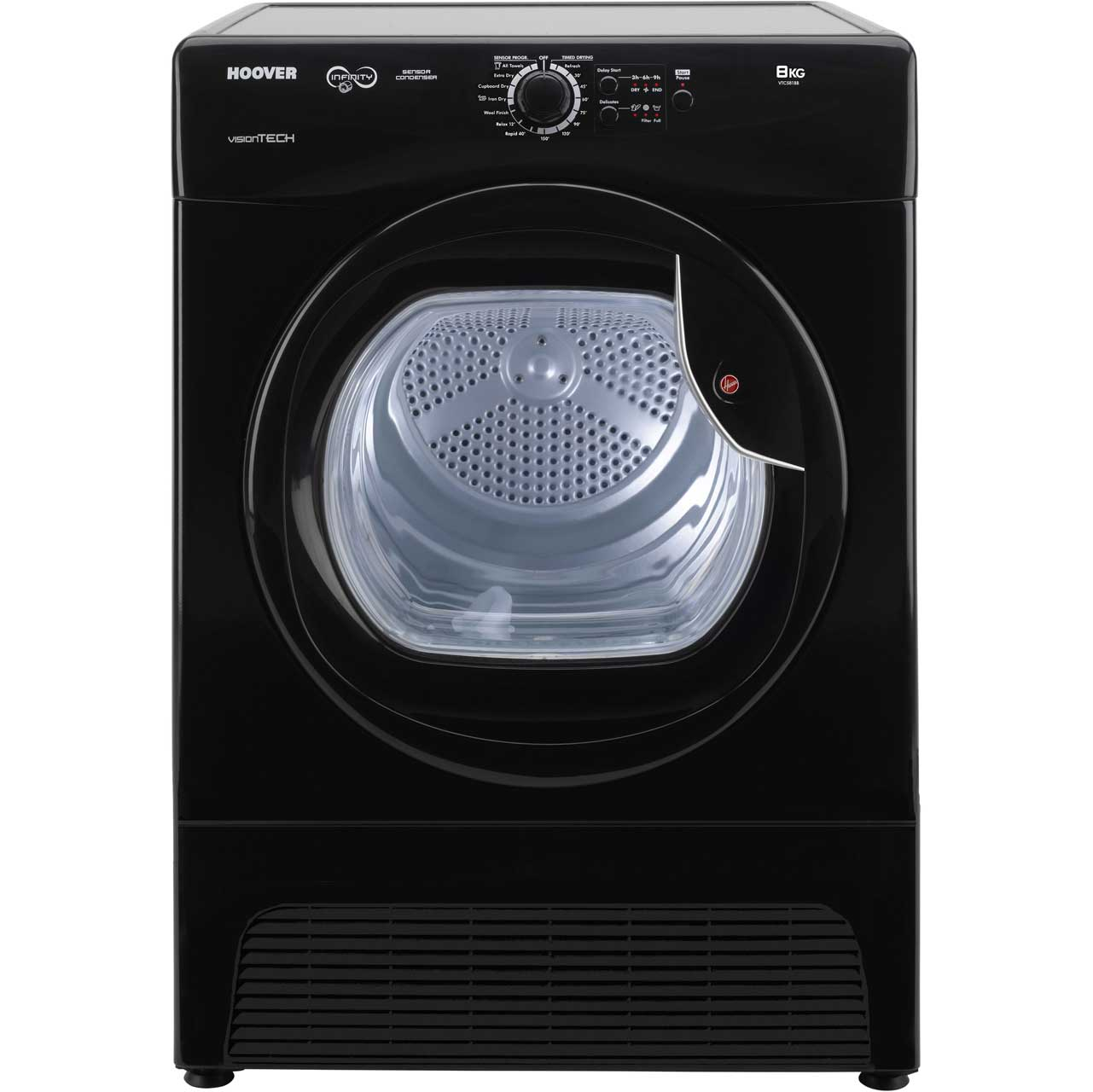 Hoover VTC581BB Free Standing Condenser Tumble Dryer in Black