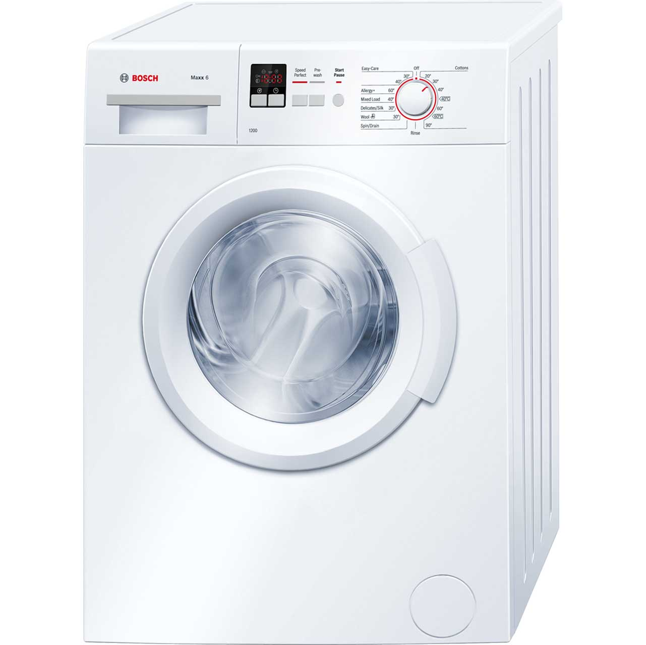 Bosch Serie 2 WAB24161GB 6Kg Washing Machine with 1200 rpm - White