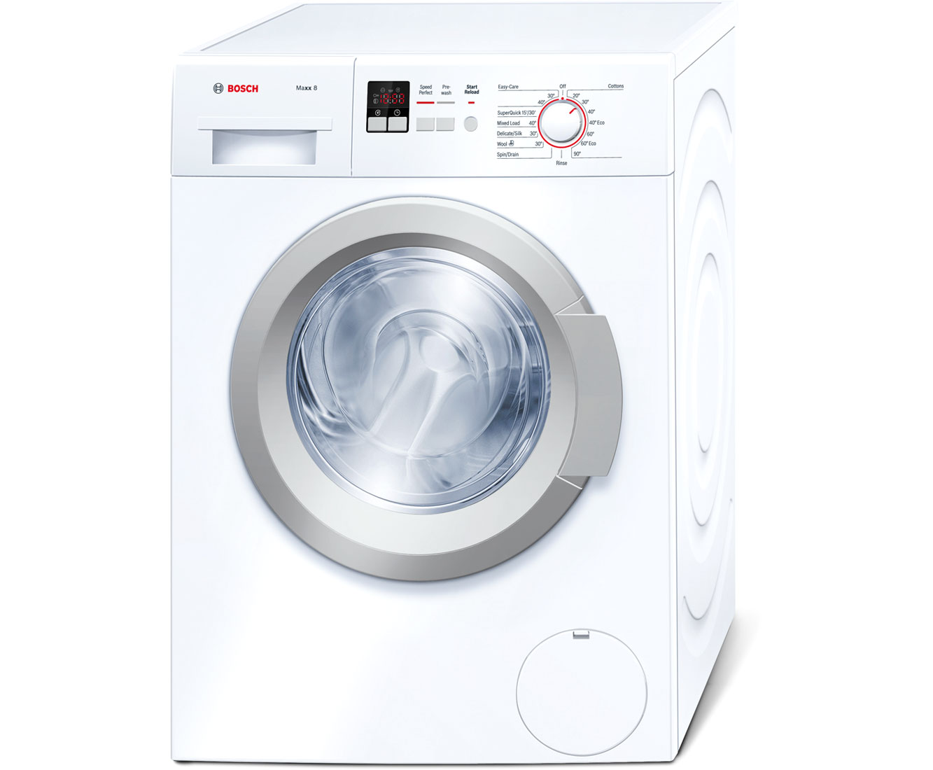 Bosch Serie 4 WAK28160GB 8Kg Washing Machine with 1400 rpm - White