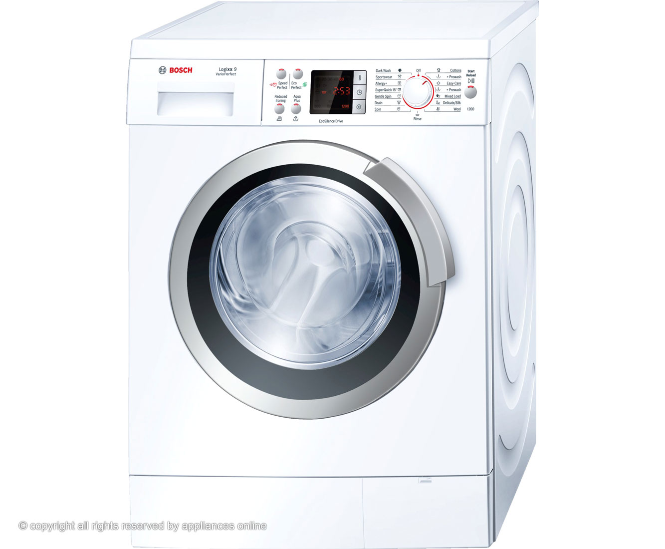 Bosch Logixx WAS24461GB 9Kg Washing Machine with 1200 rpm - White