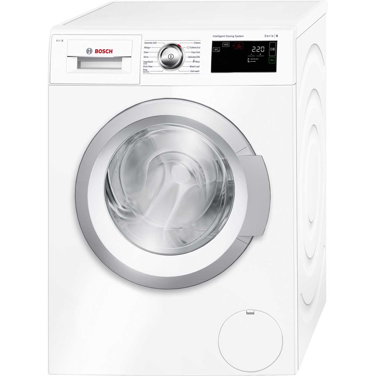 Bosch Serie 6 i-DOS™ WAT28660GB 8Kg Washing Machine with 1400 rpm - White