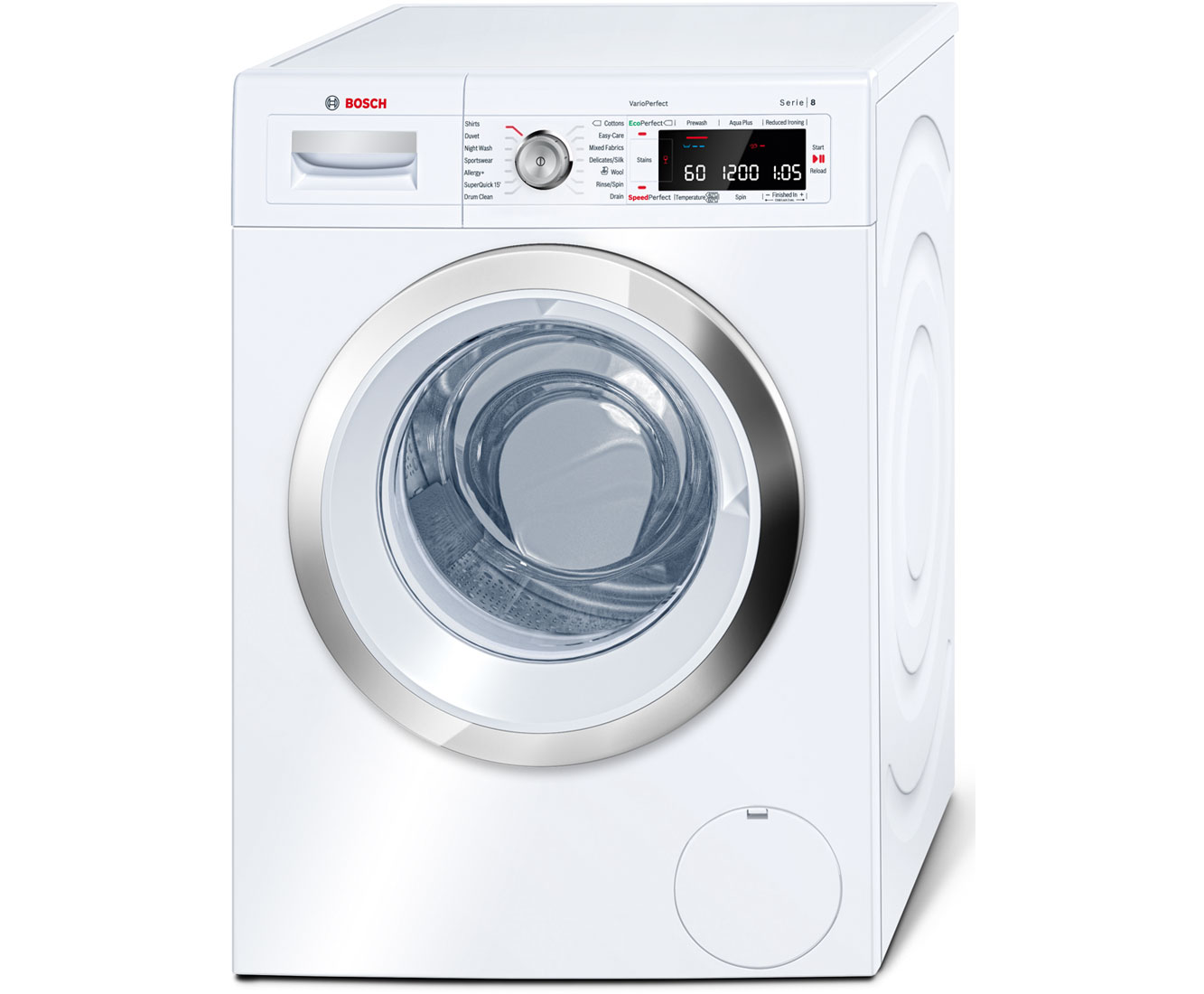 Bosch Serie 8 WAW28560GB Free Standing Washing Machine in White