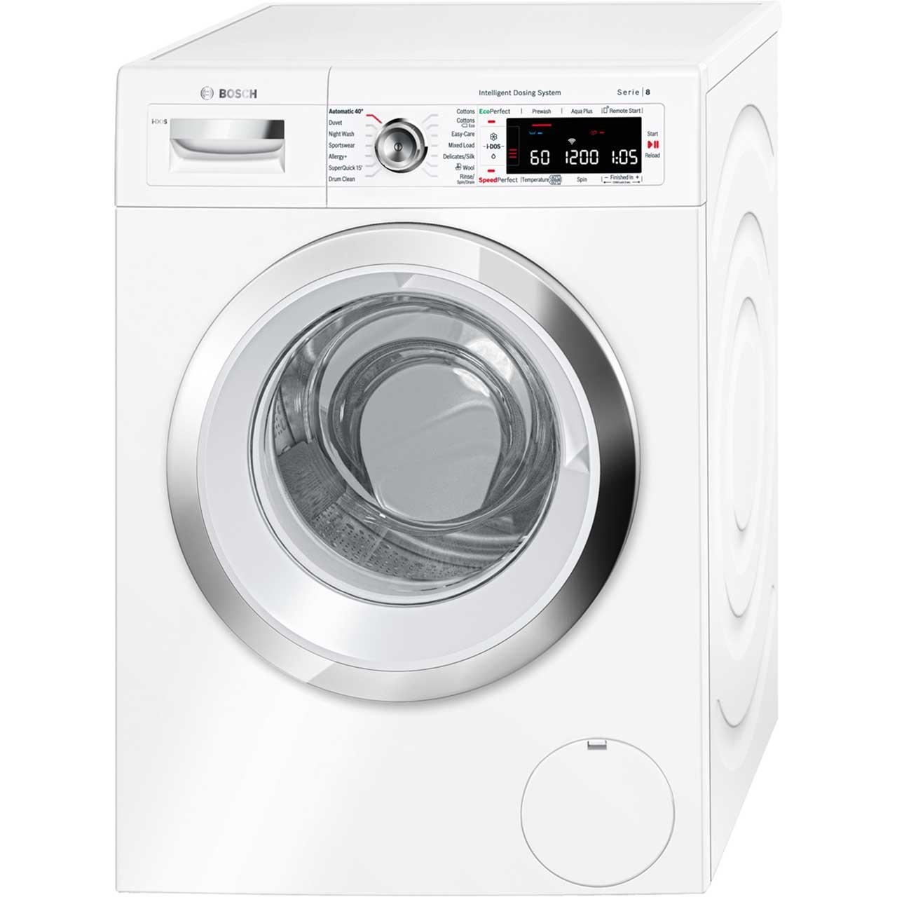 Bosch Serie 8 WAWH8660GB Free Standing Washing Machine in White