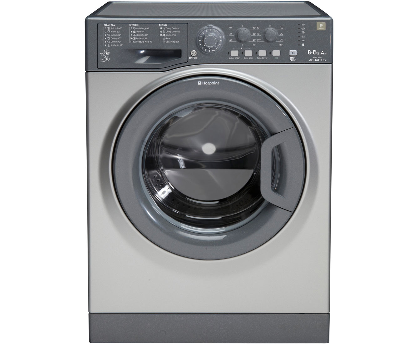Hotpoint WDAL8640G 8Kg / 6Kg Washer Dryer with 1400 rpm - Graphite