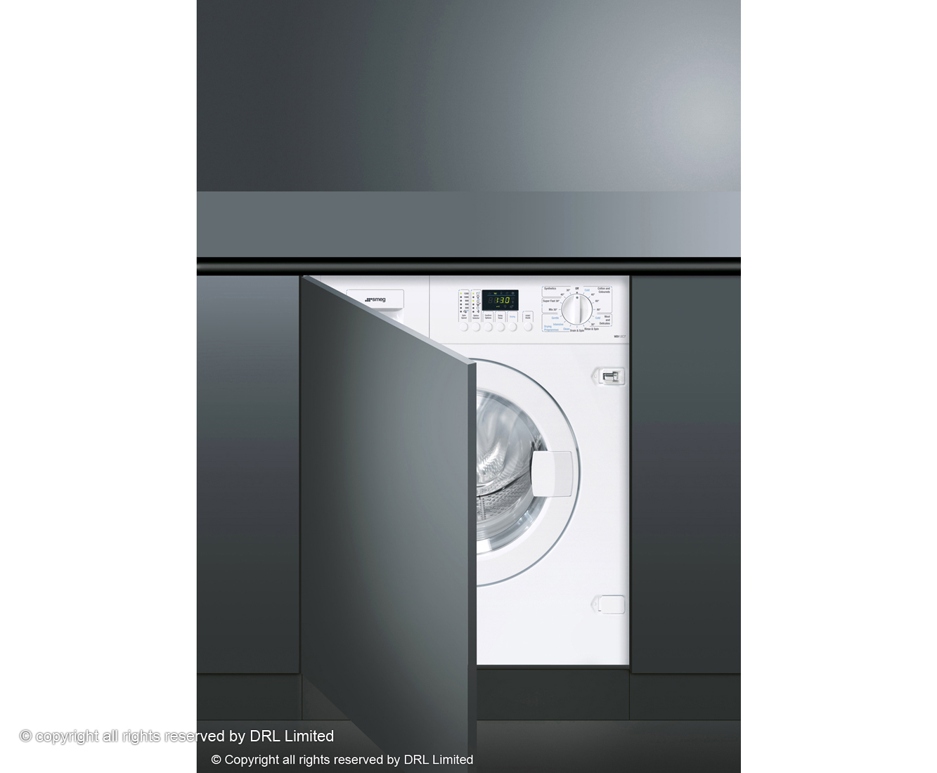 Smeg Cucina WDI12C7 Integrated 7Kg / 4Kg Washer Dryer with 1200 rpm