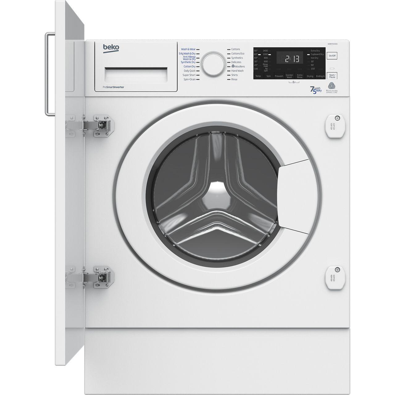 Beko WDIR7543101 Integrated Washer Dryer in White