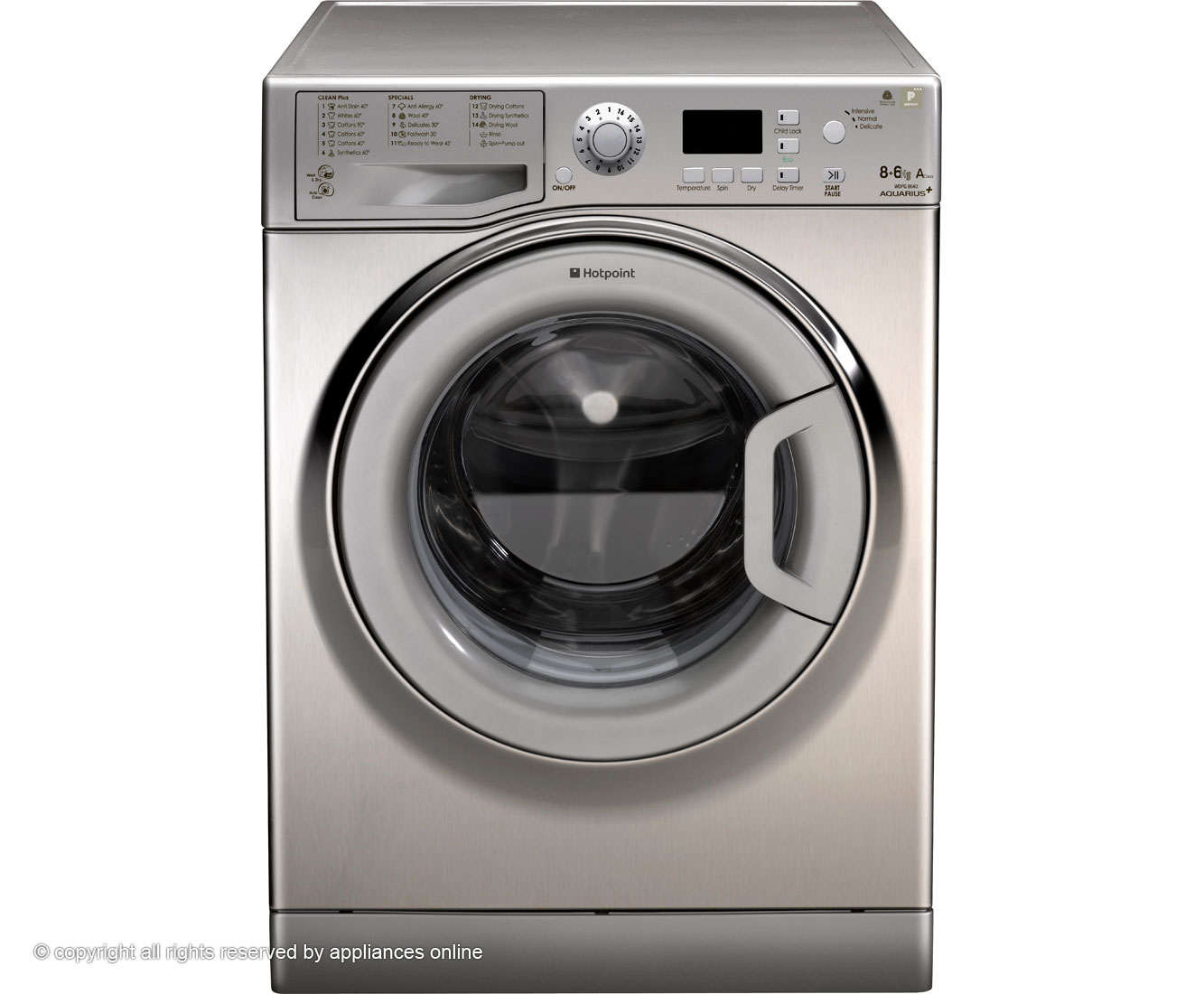 Hotpoint WDPG8640X 8Kg / 6Kg Washer Dryer with 1400 rpm - Inox