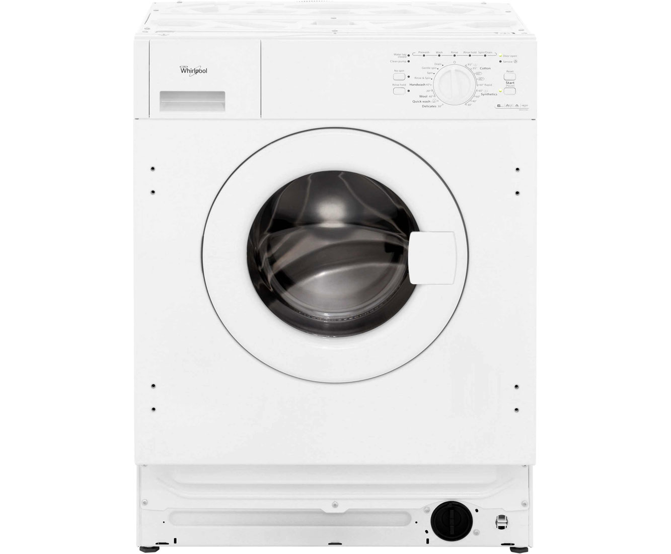 Whirlpool AWO/D060 Integrated 6Kg Washing Machine with 1200 rpm