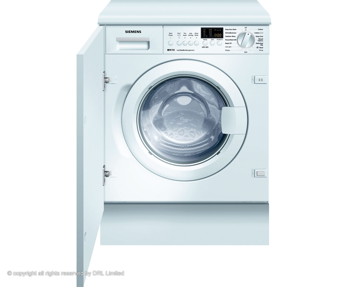 Siemens IQ700 WI14S441GB Integrated Washing Machine in White