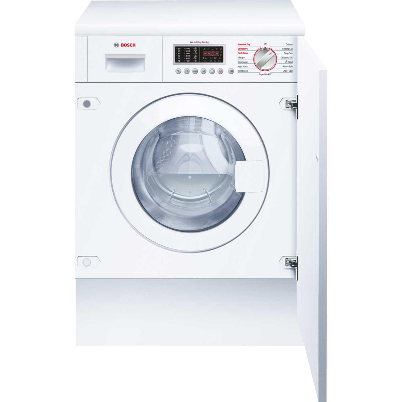 Bosch Serie 6 WKD28541GB Integrated Washer Dryer in White