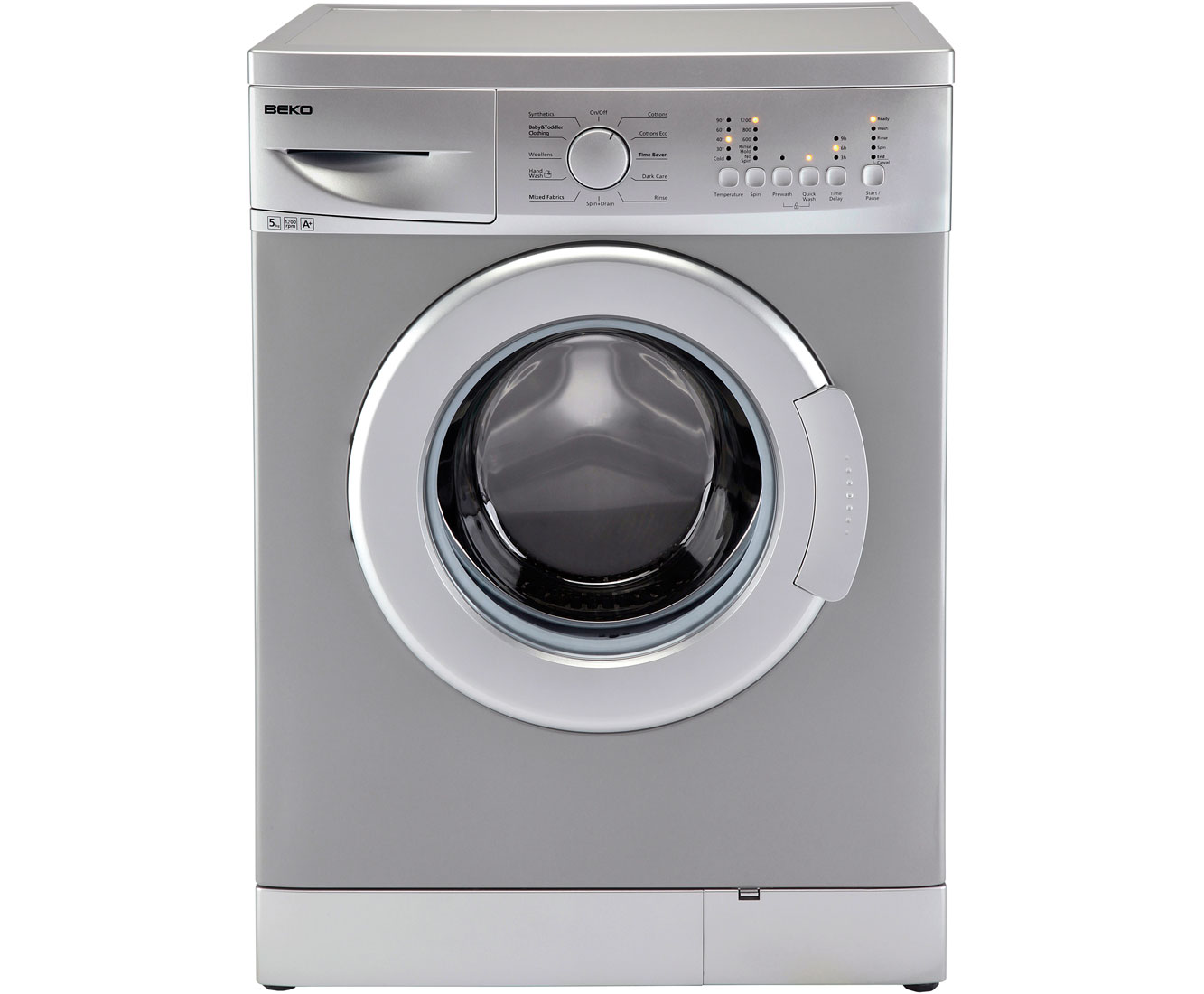 Beko WMB51221S 5Kg Washing Machine with 1200 rpm - Silver
