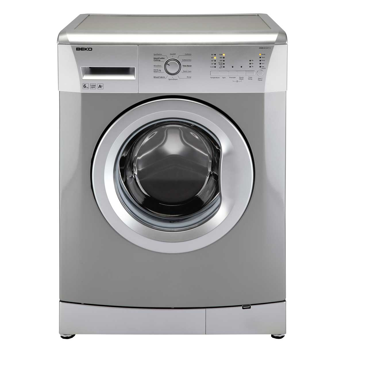 Beko WMB61221S 6Kg Washing Machine with 1200 rpm - Silver