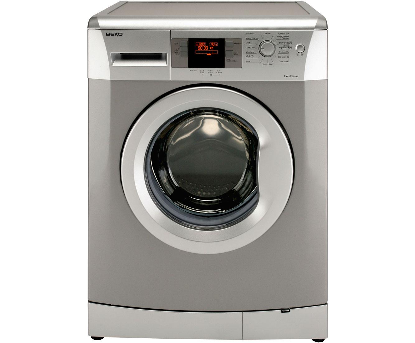 beko wmb714422 7kg washing machine silver 90590 ebay. Black Bedroom Furniture Sets. Home Design Ideas