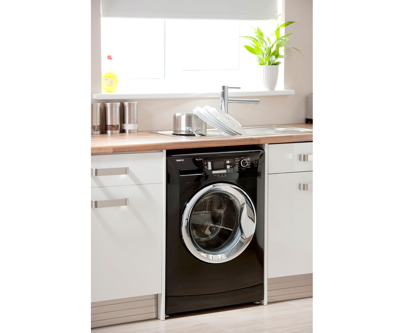 Beko WMB91242LB 9Kg Washing Machine with 1200 rpm - Black