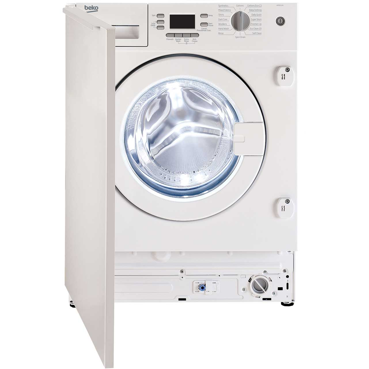 Beko WMI651241 Integrated Washing Machine in White