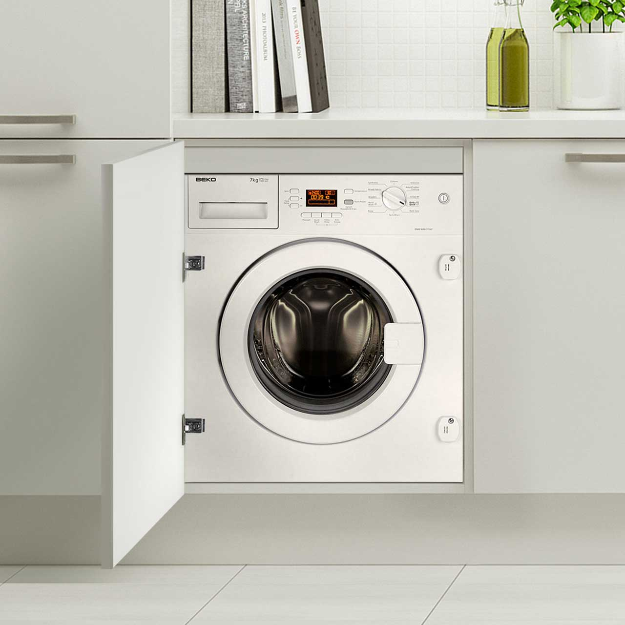 Beko WMI71641 Integrated 7Kg Washing Machine with 1600 rpm