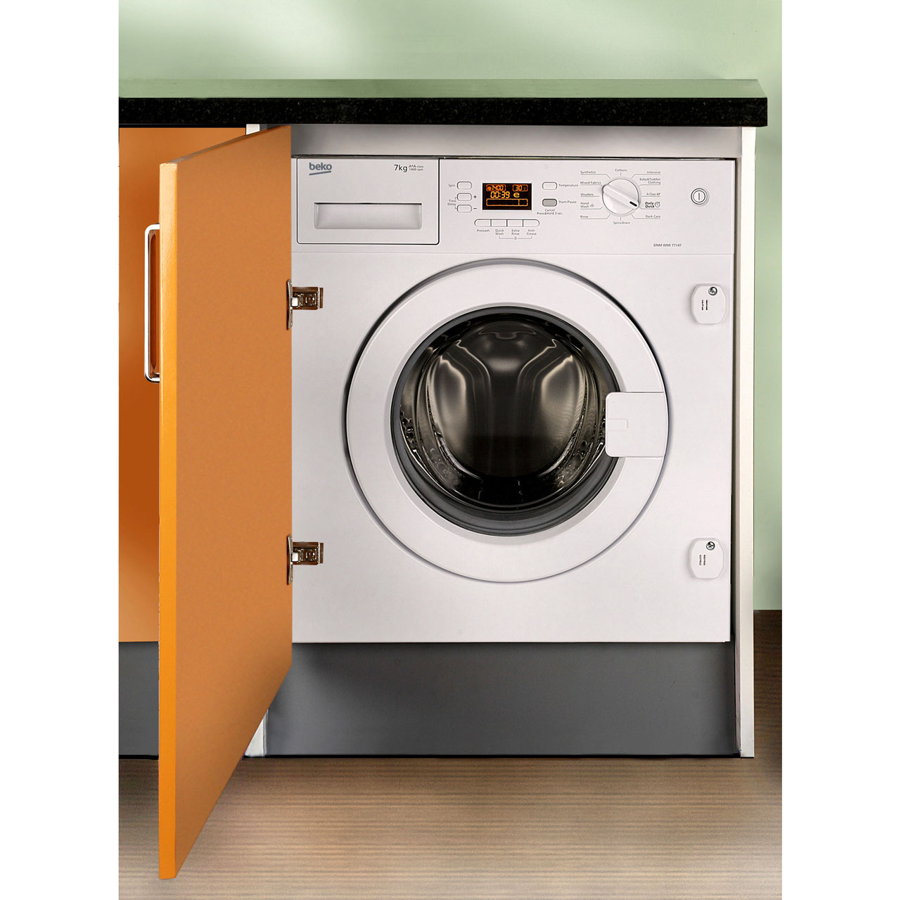 Beko WMI71641 Integrated Washing Machine in White