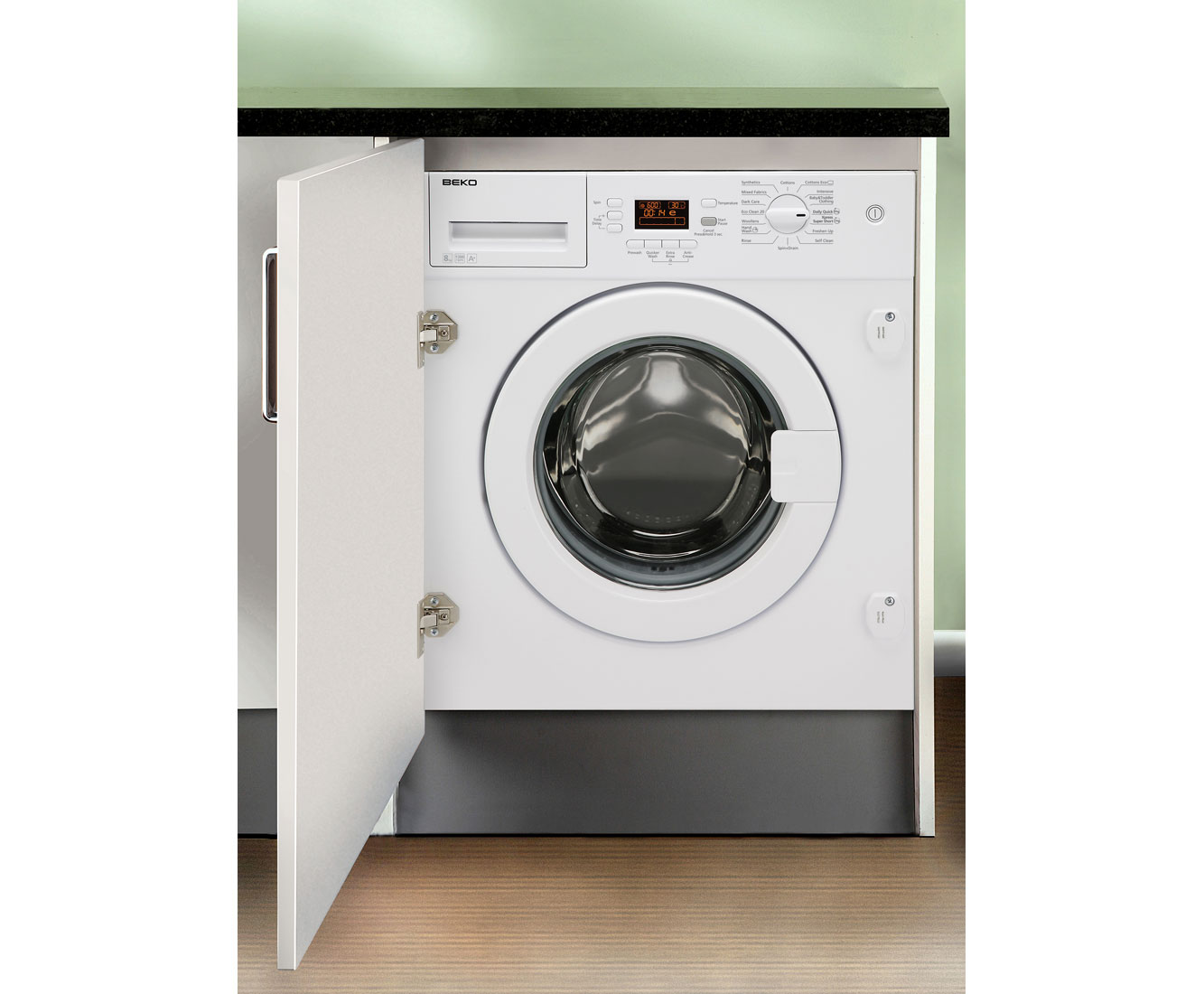 Beko WMI81341 Integrated 8Kg Washing Machine with 1300 rpm
