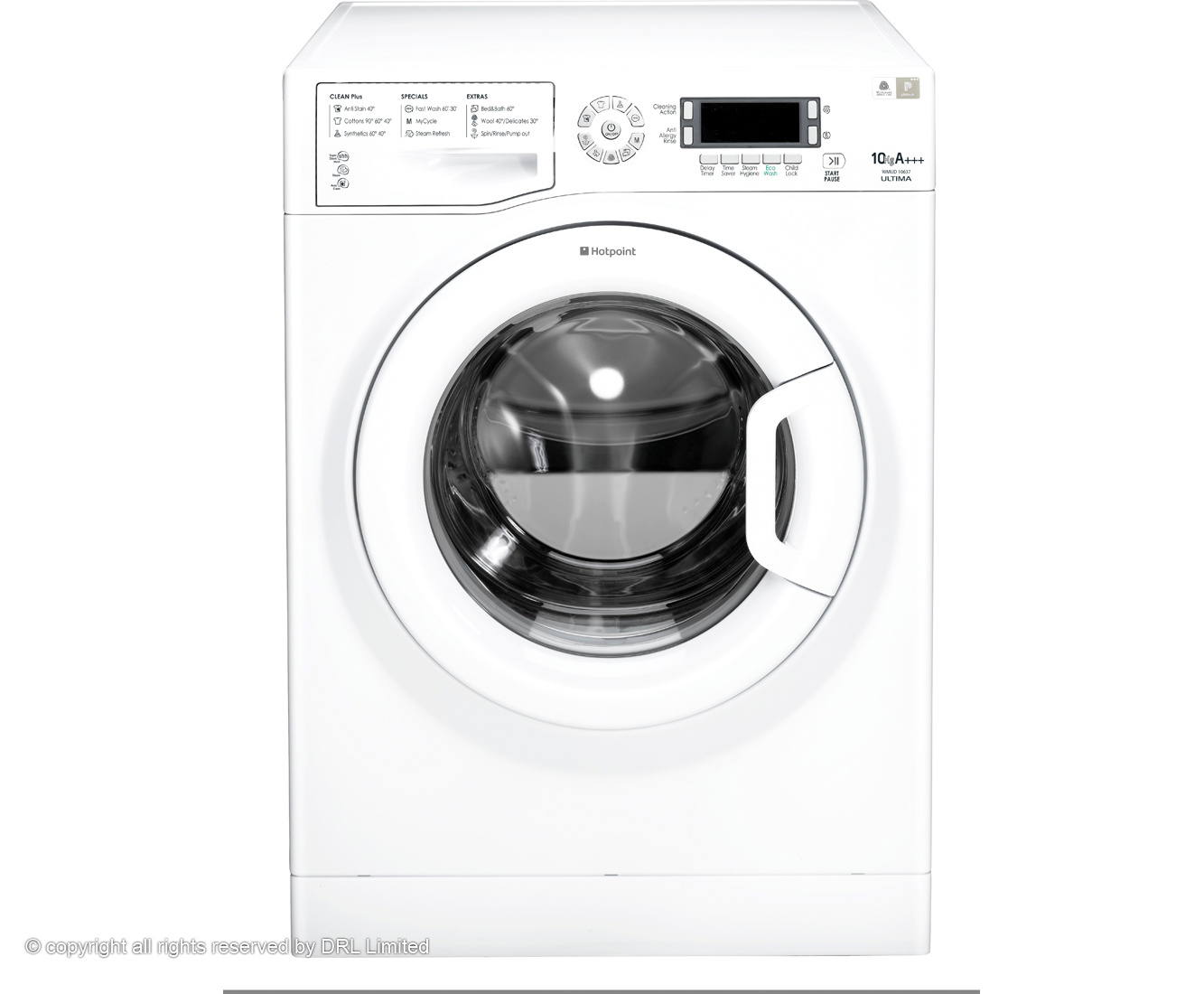 Hotpoint Ultima WMUD10637P 10Kg Washing Machine with 1600 rpm - White