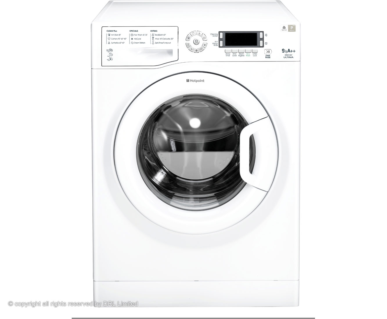 Hotpoint Ultima WMUD9627P 9Kg Washing Machine with 1600 rpm - White