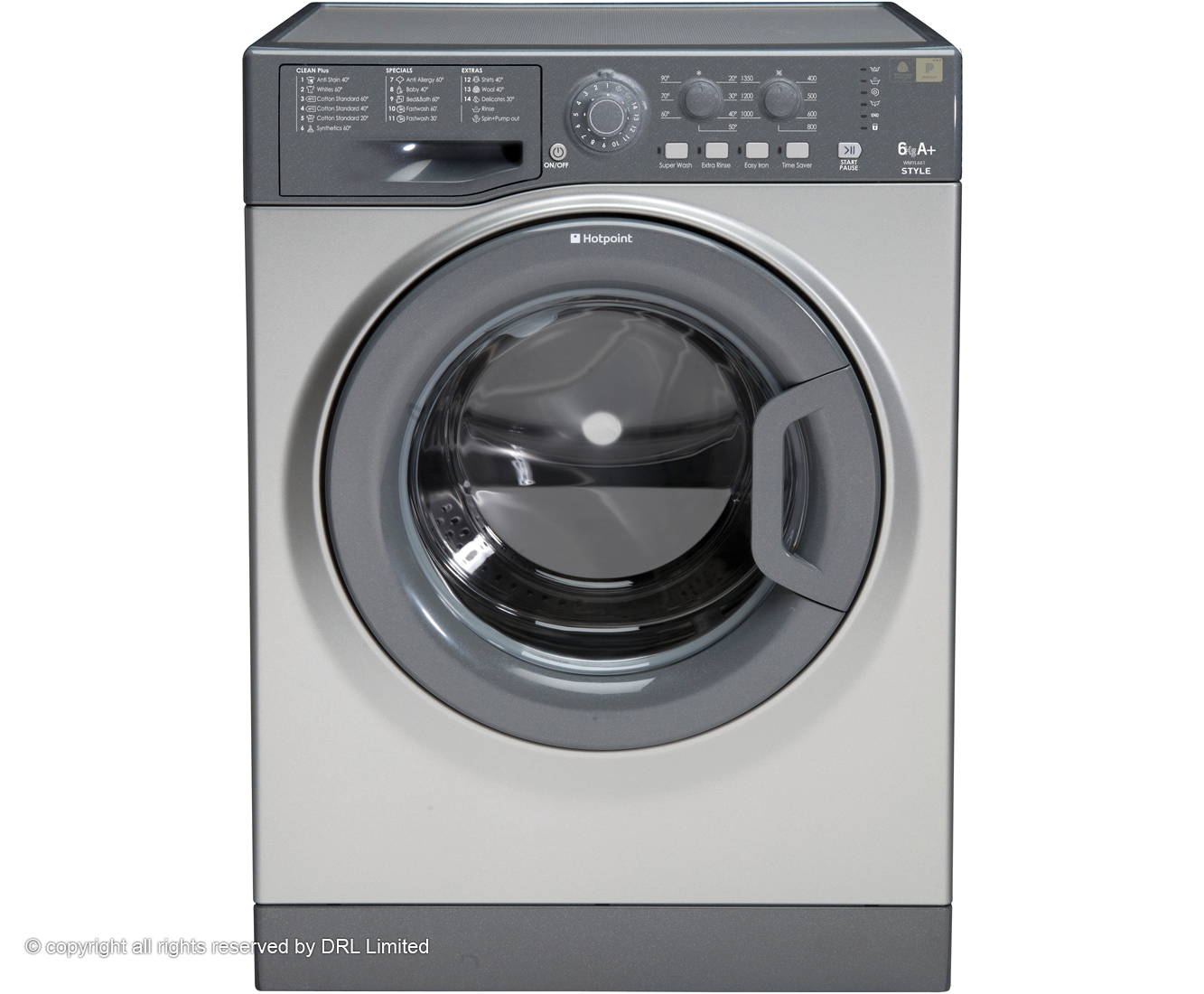 Hotpoint Aquarius WMYL661G 6Kg Washing Machine with 1550 rpm - Graphite