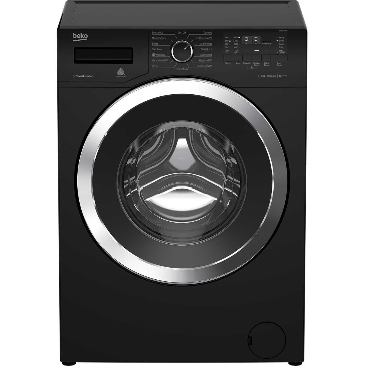 Beko WR862441B Free Standing Washing Machine in Black