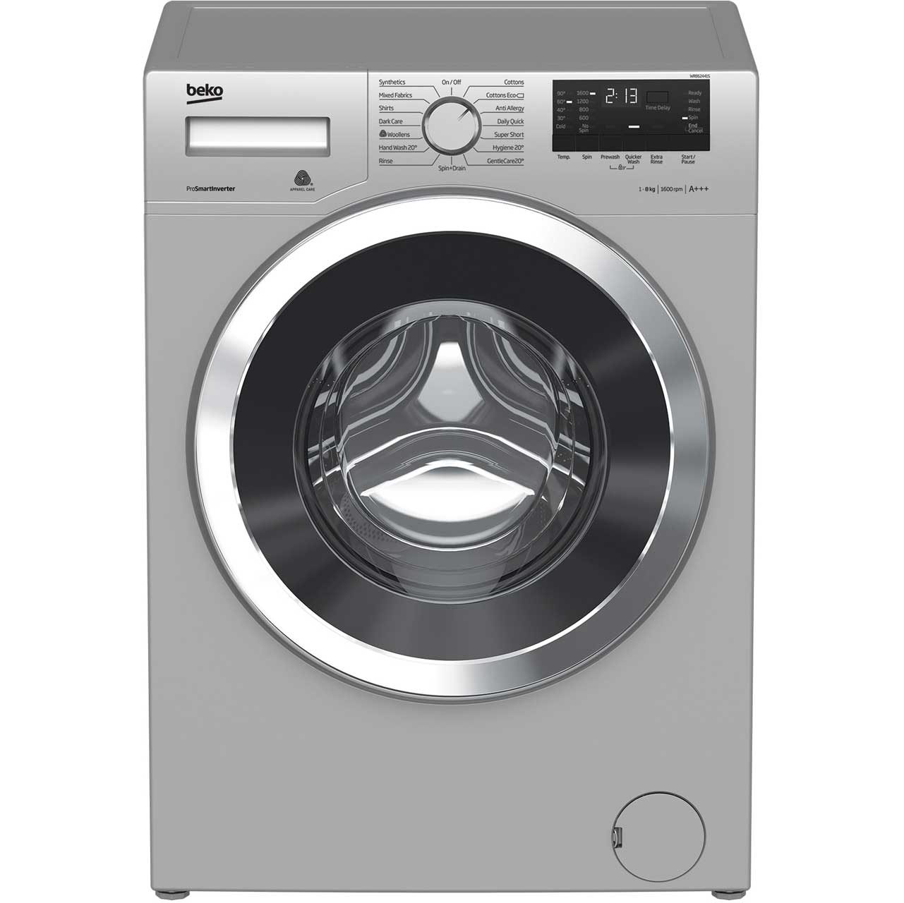 Beko WR862441S Free Standing Washing Machine in Silver