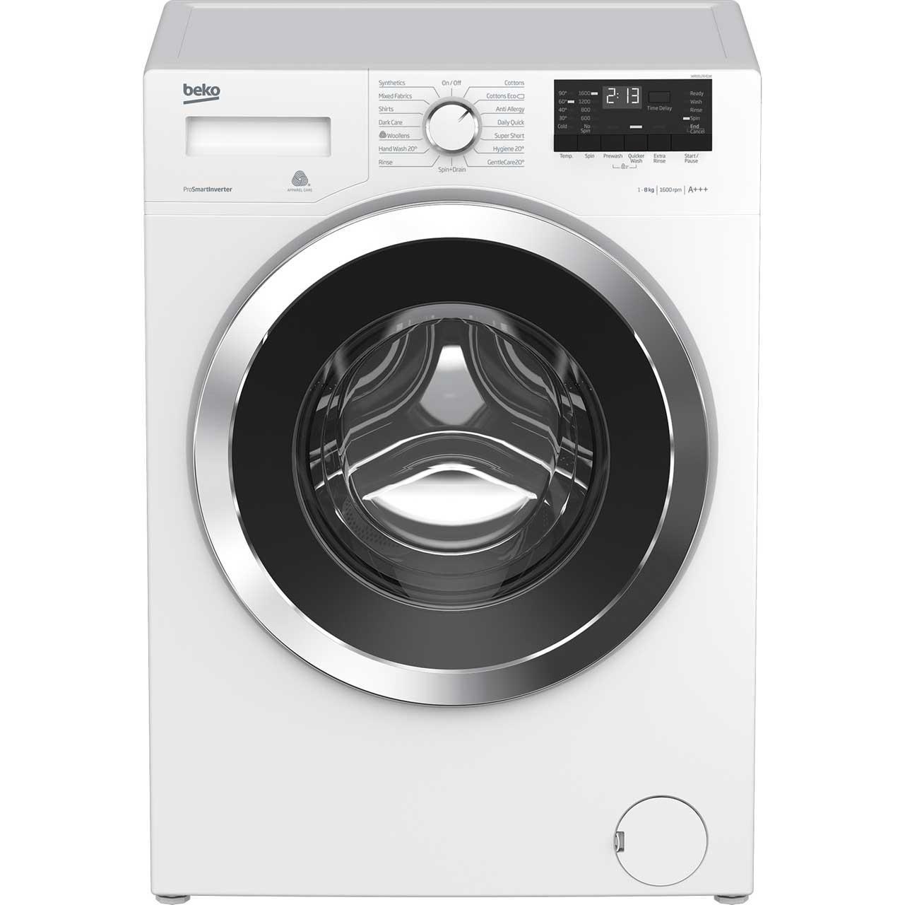 Beko WR862441W Free Standing Washing Machine in White