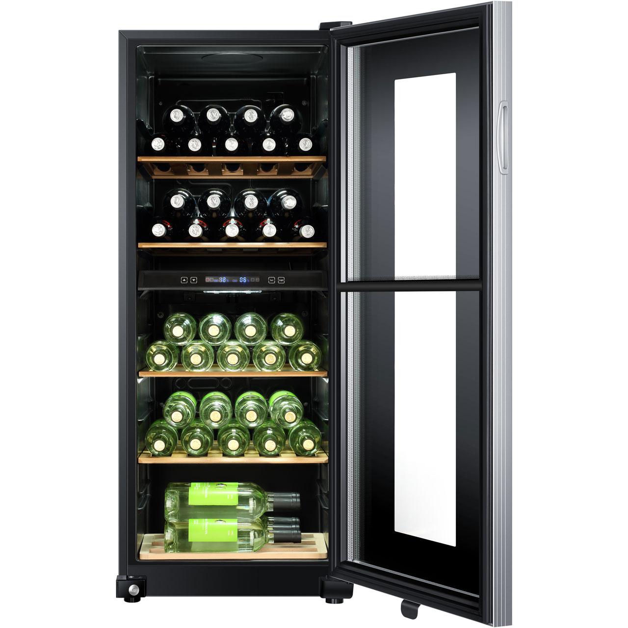 haier ws46gdbe wine cooler black. Black Bedroom Furniture Sets. Home Design Ideas
