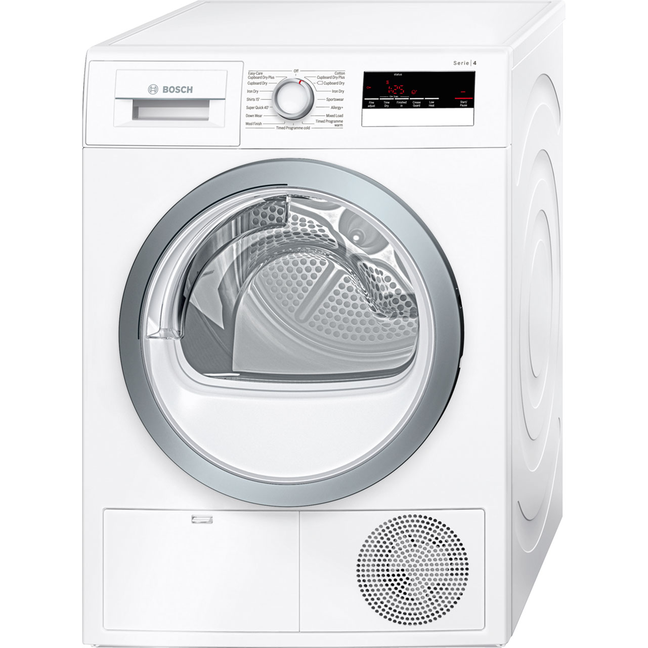 bosch serie 4 wtn85250gb 8kg condenser tumble dryer white 99496 ebay. Black Bedroom Furniture Sets. Home Design Ideas