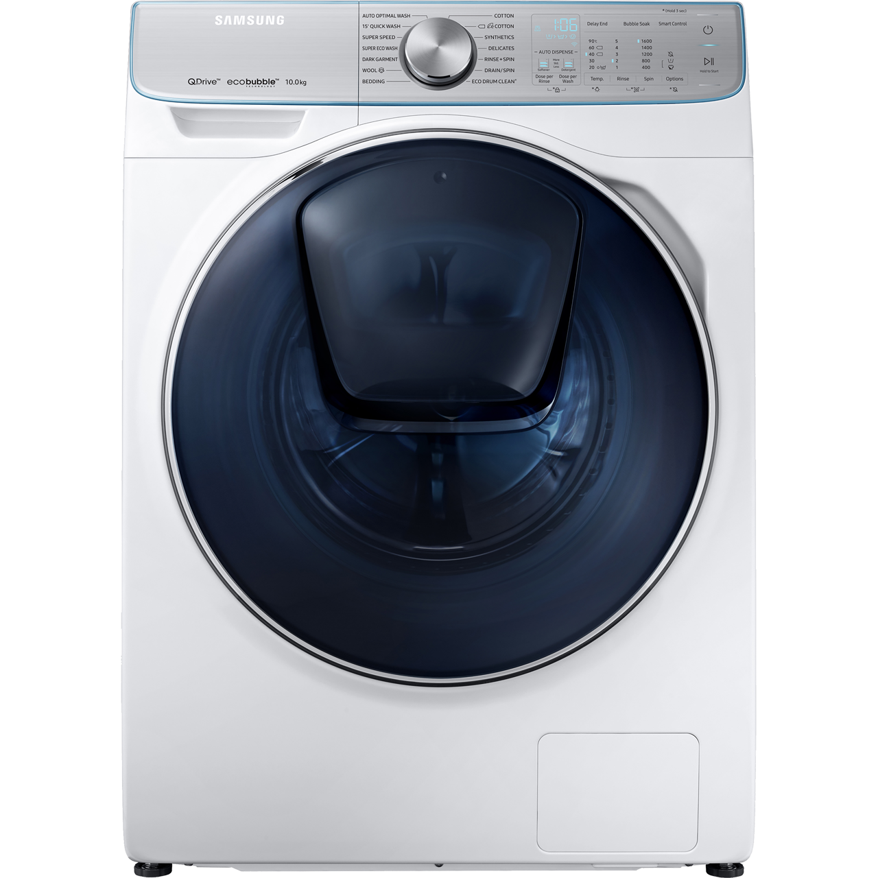 Samsung QuickDrive™ WW10M86DQOA Wifi Connected 10Kg Washing Machine with  1600 rpm - White - A+++ Rated