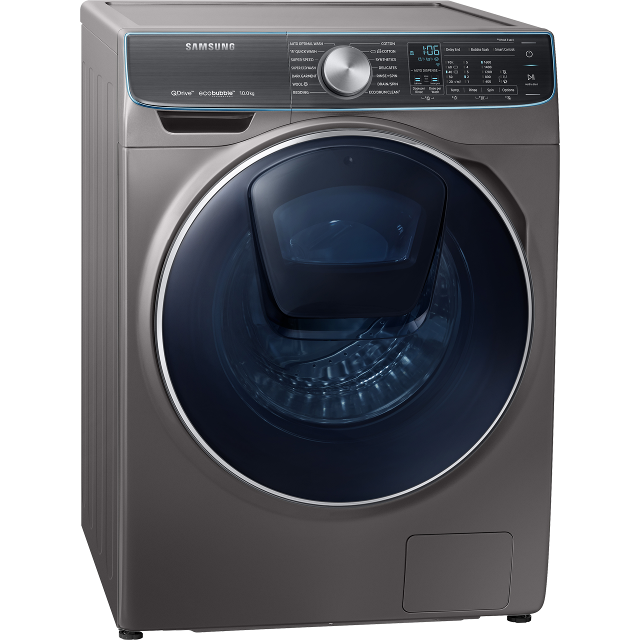Samsung QuickDrive™ WW10M86DQOO Wifi Connected 10Kg Washing Machine with  1600 rpm - Graphite - A+++ Rated