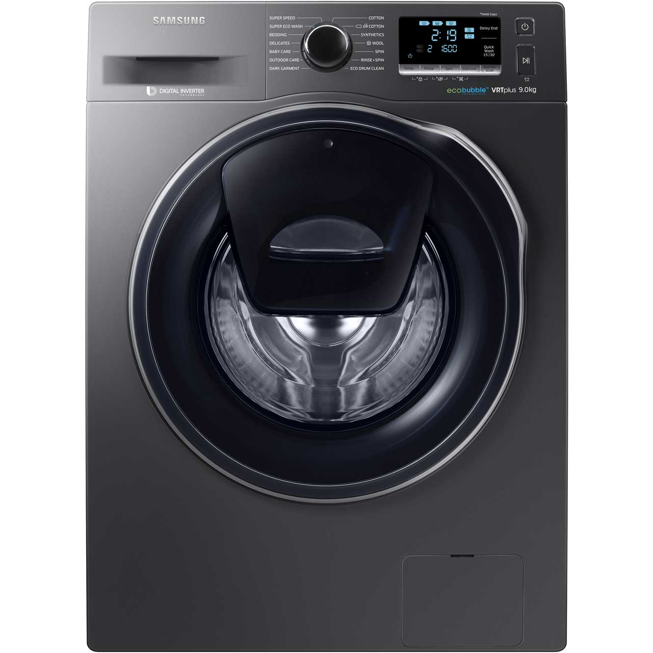 Samsung addwash ecobubble ww90k6610qx 9kg washing machine with add to compareshare biocorpaavc Images