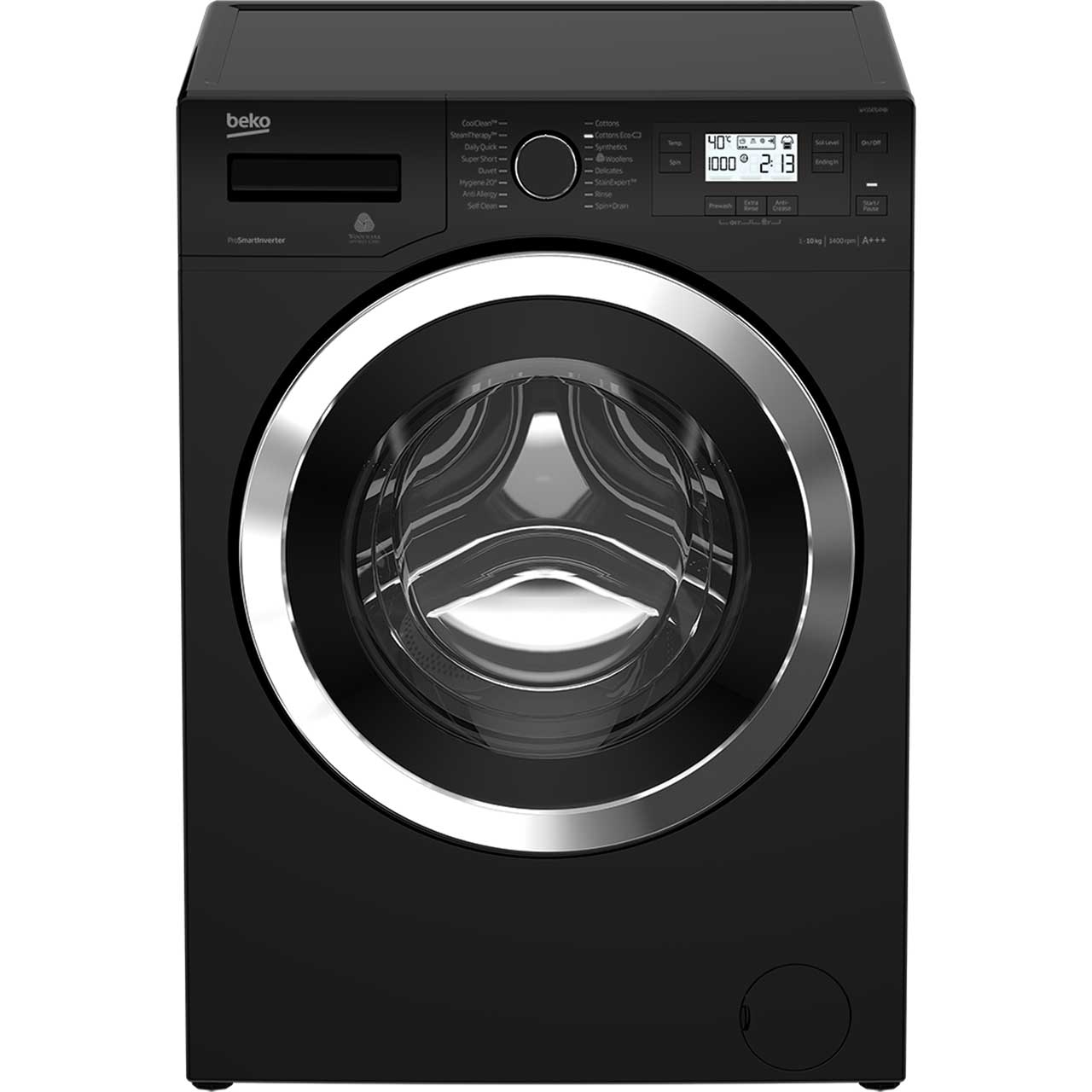 Beko WY104764MB 10Kg Washing Machine with 1400 rpm - Black