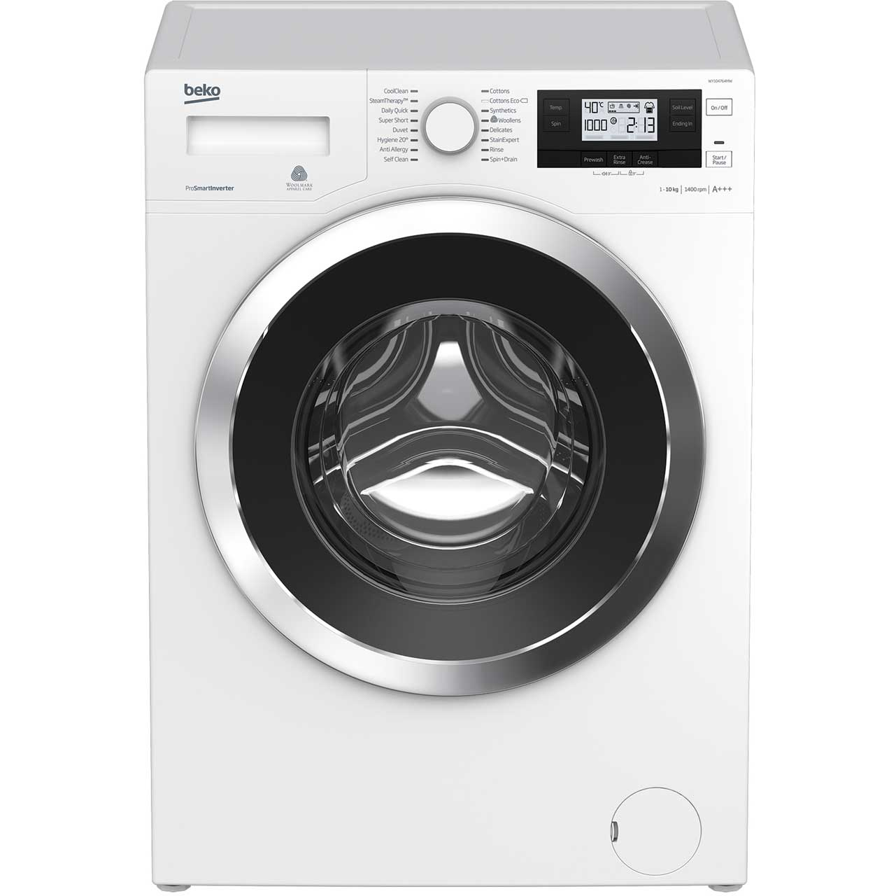 Beko WY104764MW Free Standing Washing Machine in White