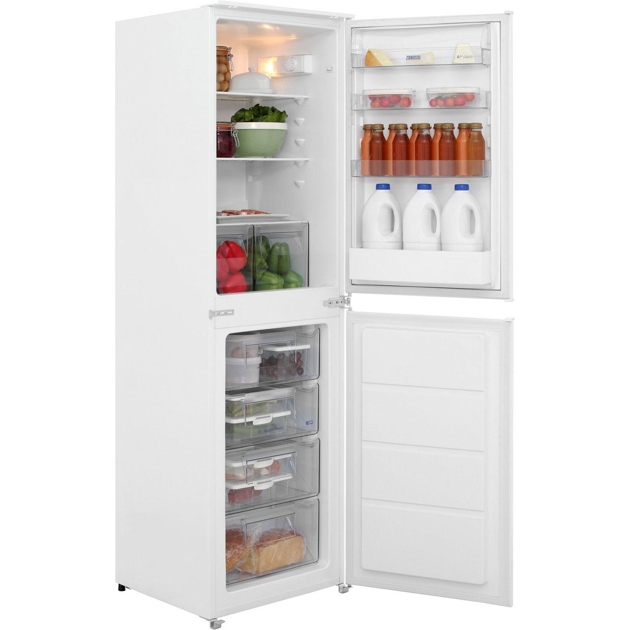 buy cheap zanussi integrated fridge freezer compare. Black Bedroom Furniture Sets. Home Design Ideas