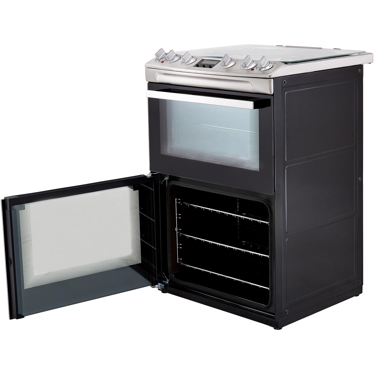 Zanussi Zck66350ba Free Standing A A Dual Fuel Cooker With